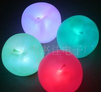 Wholesale New Year Holiday Festival LED Christmas Apple Light Christmas Decorations Gift Ornaments JJAL X10