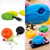 Wholesale pc Circular Turtle Cord Wire Cable Organizer Space saving Helper Fashion Candy Colors New Storage Box