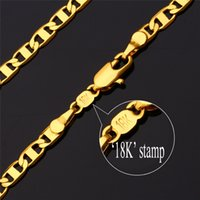 18k gold chain for men - K Real Gold Plated Choker Necklace Chain High Quality Gold Plated Necklace For Men K Stamp MM Factory MGC N1040