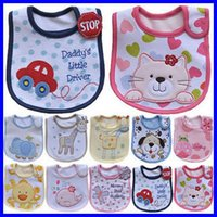 Wholesale Infant saliva towels layer Baby Waterproof bibs Baby wear accessories kids cotton apron handkerchief children animal print bib