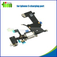 audio jack parts - For iPhone G iphone5 Charger Dock Connector Charging Data USB Port Ribbon Headphone Audio Jack Flex Cable Replacement Parts black white