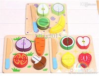 Cheap New Arrival Outdoor Fun & Sports Wooden Fruit Ninja Toys Cut Fruit Play House Toys HT490