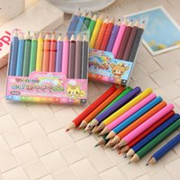 Wholesale 12 color pencil students stationery office supplies pens