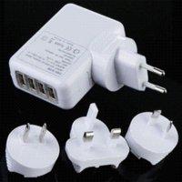 Cheap Wholesale EU Plug 4 Port HUB USB EU Plug Home Travel Wall AC Power Charger Adapter for iphone iPad galaxy OTG Free Shipping