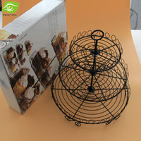 boxes boxes fruit - Color Box Package Tier Cake Stand Black Paint Fruit Stand Round Iron Dessert Frame dandys