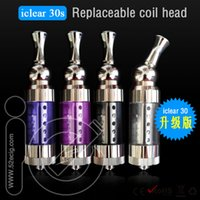 Replaceable 3.0ml Metal iclear30s atomizer for e cigarette itaste VTR clearomizer itaste SVD high quality iclear 30S dual coil clearomizer Free shipping