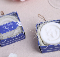 beach bag favors - 2015 fashion Romantic summer on the beach ANCHORS Away Scented guest Soap for wedding festival party Decoration
