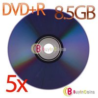Wholesale 5Pcs New X Blank Recordable Printable DVD R DVDR Blank Disc Disk X Media GB