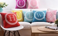 Velvet Fabric baby names grey - Alphabet Capital Letters Baby Name Initial Cushion Cover Candy Color Home Love Pillows Covers Sofa Velvet Pillow Case Birthday Present
