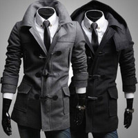 Wholesale Fall and winter New Men Coat New Arrive Men Coat Personality Men Coat Men Slim Fit Coat Fashion Lapel Coat