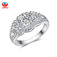 Wholesale GALAXY Sterling Silver Wedding Rings for Women Top Quality Cubic Zircon Diamond Engagement Ring Woman Jewelry ZR091