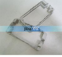 Wholesale 50pcs New A Bezel Frame For iPhone s Front Frame Bezel Bracket With Hot Glue Black or White replacement