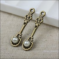 antique spoon rings - 75pcs vintage spoon with pearl charm antique bronze fit for fashion earrings and maxi Necklaces Pendants