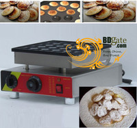 Wholesale 25pcs Commercial Use Non stick v v Electric Dutch Poffertjes Mini Pancakes Maker Machine Baker Plate