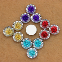 plastic beads - 100pcs mm Dual color Acrylic Crystal Round Shape flower beads flatback rhinestone for DIY decoration ZZ266
