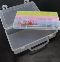 Wholesale Electronic Components Storage Box lattice blocks Large space Component Parts Box order lt no track