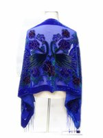 Wholesale 2015 HOT in USA UK spring winter colorful peacock velvet scarves women burnout evening shawl fashion gift for mom and wife