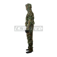 Wholesale D Leaf Camouflage Hunting Photography Zipper Disguise Ghillie Suit Woodland Disguise Hide Yowie Training Military Clothes