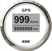 Wholesale 52mm digital GPS speedometer face gauge CCSB with mating antenna white faceplate LED backlight km h for universal truck