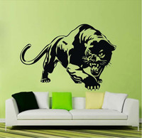 bedroom wall stickers for teenagers - Removeable wall mural decals fierce Cheetah panther wall stickers for kids teenager bedroom