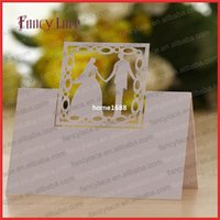 cutting die - 50PCS Wedding Invitation Decoration Place Card Elegant Table Cards Bride and Groom Shaped Die Cut Wedding Party Decor