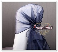 atrovirens color - Wedding Decorations Organza Ribbon Hood In Atrovirens Color Chair Cap Sashes Chair Hat