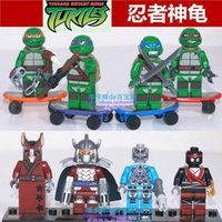 Wholesale 2015 new TMNT toys Mirage Teenage Mutant Ninja Turtles building blocks bricks toys action figure for children s gifts set
