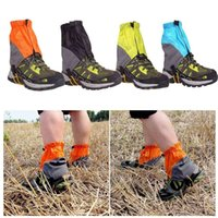 Wholesale Outdoor Gaiters Silicon Coated Nylon Waterproof Ultralight Gaiters Leg protection Guard Tear resistant Hiking Trekking Gaiters order lt no t
