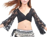 Cheap Belly Princess Tribal Belly Dance Lace Butterfly Sleeve Wrap Top, Gift Idea