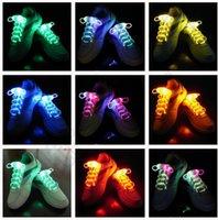 Wholesale 100PCS HHA470 LED Flashing shoe laces Fiber Optic Shoelace Luminous Shoe Laces Light Up Shoes lace