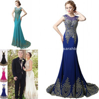 designer plus size - 2015 Designer Long Prom Dresses For Womens Cheap Real Photo Plus Size Arabic Dubai aso ebi style Celebrity Wedding Evening Formal Wear Gowns