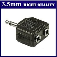 Wholesale Lot_3 MM Male to Double mm Male Audio Splitter Jack hight quality