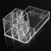 acrylic makeup organizer - 2015 New Clear Makeup Jewelry Cosmetic Storage Display Box Acrylic Case Stand Rack Holder Organizer