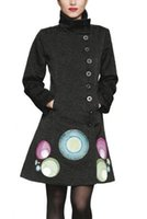 Cheap Women Trench Coats Best Fashion Stand Collar desigual coat