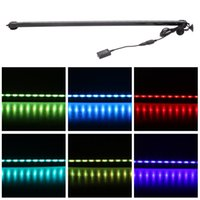 Wholesale 71cm w LEDs Bubble Aquarium Light Degree RGB Colors IP68 Submersible Remote Control Fish Tank LED Light Bar