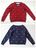 american sailing ships - sailing clothing for baby boys girl knitted sweater spring kids cardigan sweaters cotton knit sweaters in stock