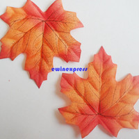 autumn party decorations - New Artificial Autumn Leaves Cloth Maple Fall Leaf Wedding Party Decorations props Home Decor