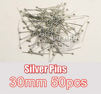 Wholesale Fashion Gold Silver Plated Ball Head Pins Multi Size Jewelry Findings