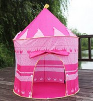Wholesale Ultralarge Children Beach Tent Baby Toy Play Game House Kids Princess Prince Castle Indoor Outdoor Toys Tents Christmas Gifts
