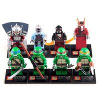 ninja turtles - Action Figures Minifigures styles a set suit with arms skateboard Mirage Teenage Mutant Ninja Turtles