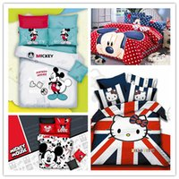 Cheap Red mickey mouse bedding Kids Bedding Twin Full queen size queen size mickey mouse bedding bed set bedspread duvet quilt cover