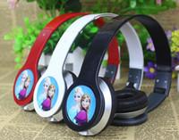 Wholesale free shpping new Retail Frozen Headset Princess Anna Elsa headphone kids Cartoon Olaf headband Earphone mm