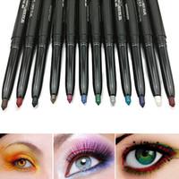 Wholesale Hot Sales Fashion set Autorotation Waterproof Eyeliner Eye Shadow Lip Liner Pen T199 Multi purpose Cosmetic Tool