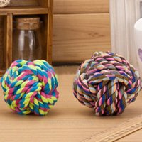 Wholesale Pet Puppy Rope Fashion Dogs Cottons Chews Toy Ball Play Braided Bone Knot Drop Shipping