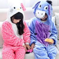 animals zoo games - New Hot Sale Cosplay Style Homewear Children s baby Squirrel Cows Animal Cartoon Piece Pajamas Zoo point cat small donkey Sleepwear