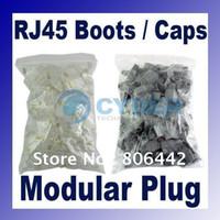 Wholesale 8p8c RJ45 RJ Connectors Modular Plugs Boots CAT5 Retail