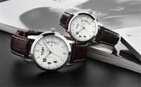 Relojes de los hombres del reloj de hombre de 2015 superventas de la alta calidad de la manera EYKI E-Times de cuero del cuarzo del amante gran regalo H8645