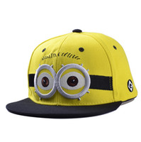 baseball people - Fashion Baseball Cap God Steal Dads Film Yellow People Minions Children Flat Snapback Hip hop Caps for Boy And Girls Canvas Top quality