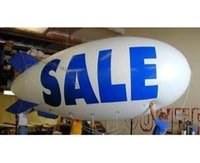 airship balloon - m ft Long PVC Inflatable Advertising Airship Inflatable Blimp Solid color with Big Letters Logo for Events