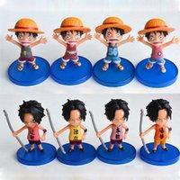 Wholesale Japan Anime One Piece Luffy Ace Action Figure Doll Toys Modle Collection Set cm